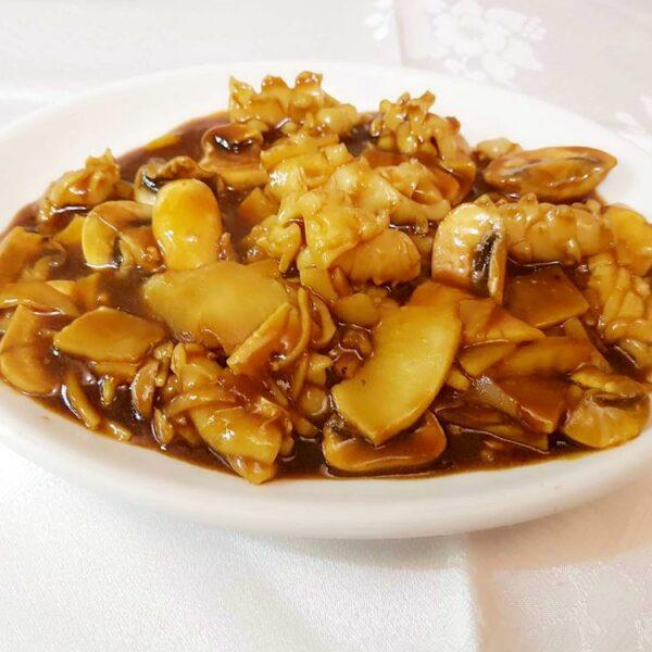 Calamares en salsa de soja gran pekin ourense