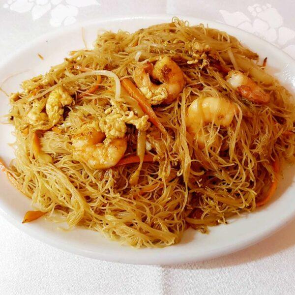 Fideos fritos con gambas gran pekin ourense