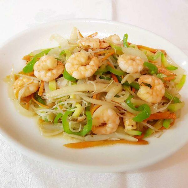 Gambas con verduras gran pekin ourense