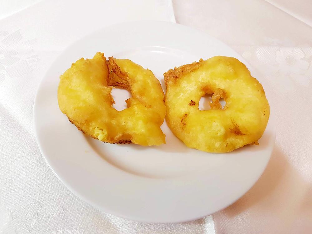 Pina frita con miel gran pekin ourense