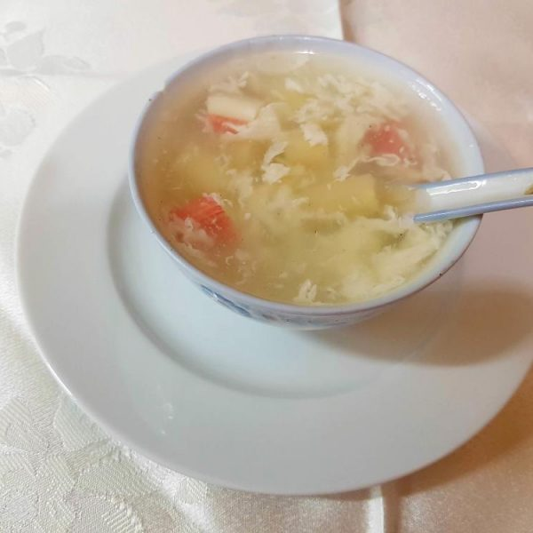 Sopa de cangrejo con esparragos gran pekin ourense
