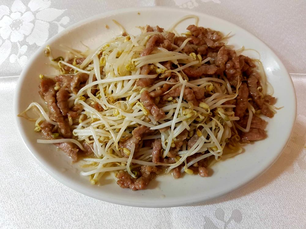 Ternera con brotes de soja gran pekin ourense