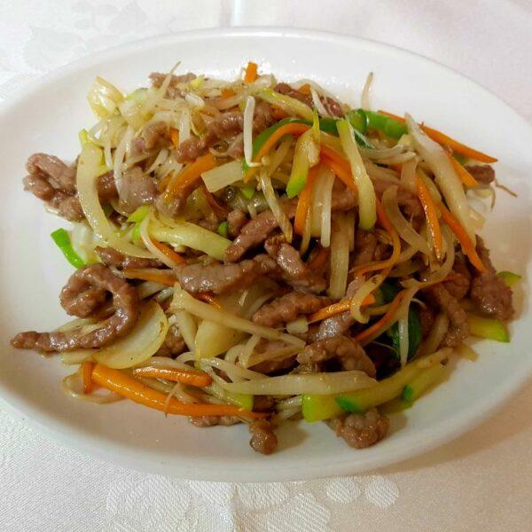 Ternera con verduras gran pekin ourense